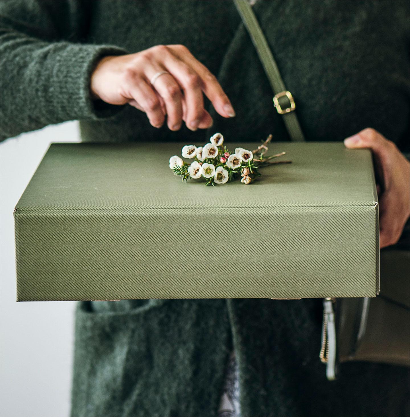 Vihreä lahjalaatikko