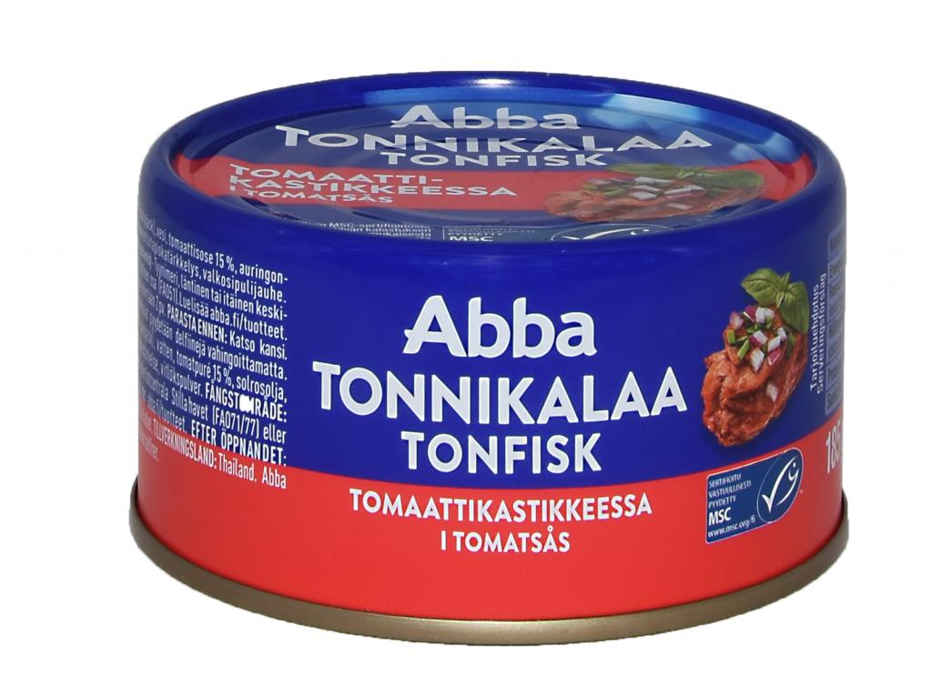 Abba Tonnikalaa Tomaatissa 185g (L,M)