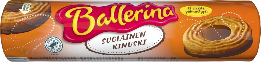 Ballerina Suolainen Kinuskitäytekeksi 190g