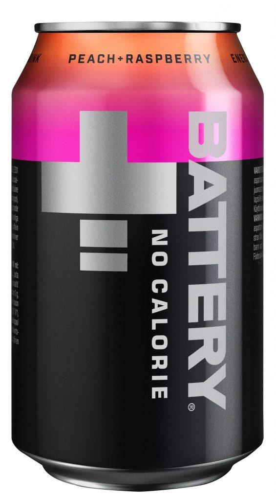 Battery No Calories Peach&Raspb 0,33l tlk