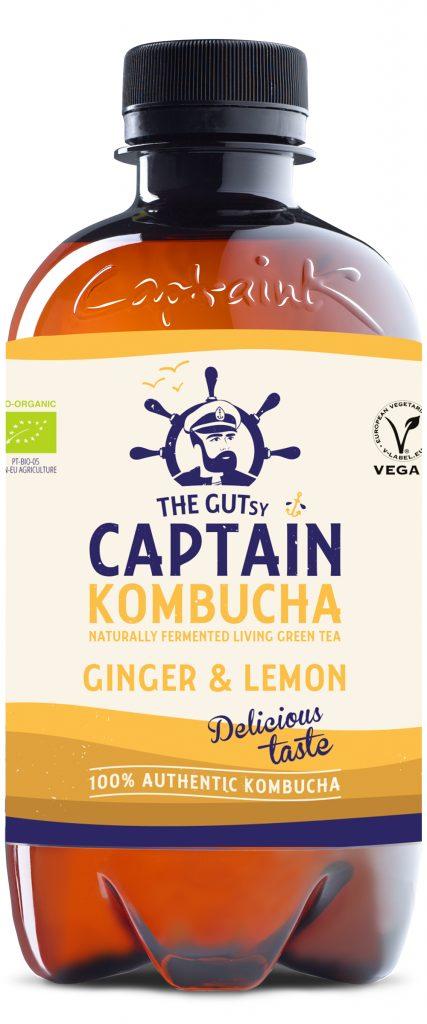 Captain Kombucha Ginger Lemon Luomu 0,4l