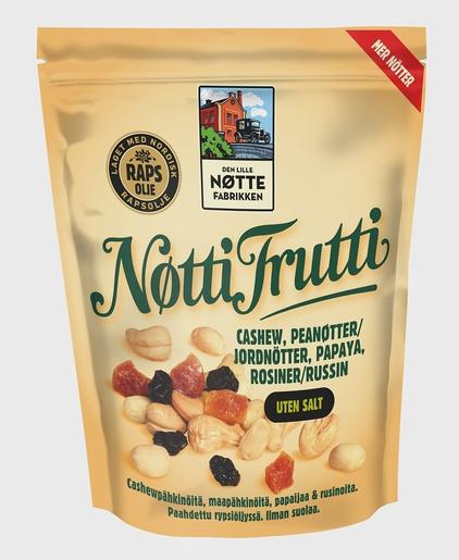 Den Lille Nøttefabrikken Nötti Frutti pähkinä-hedelmäsekoitus 400g