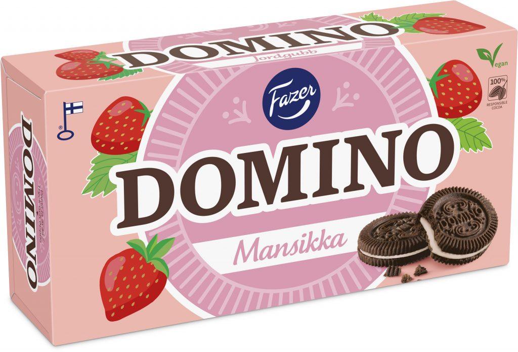 Fazer Domino Mansikka Täytekeksi 350g (L)