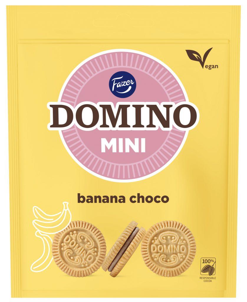 Fazer Domino Mini Banaanisuklaanmakuinen Täytekeksi 99g (L)
