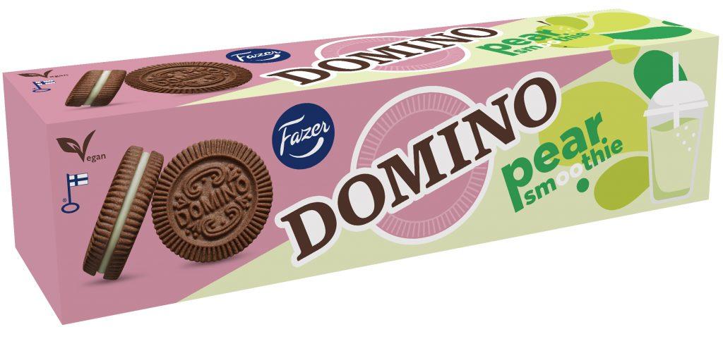 Fazer Domino Pear Smoothie Täytekeksi 175g (L)