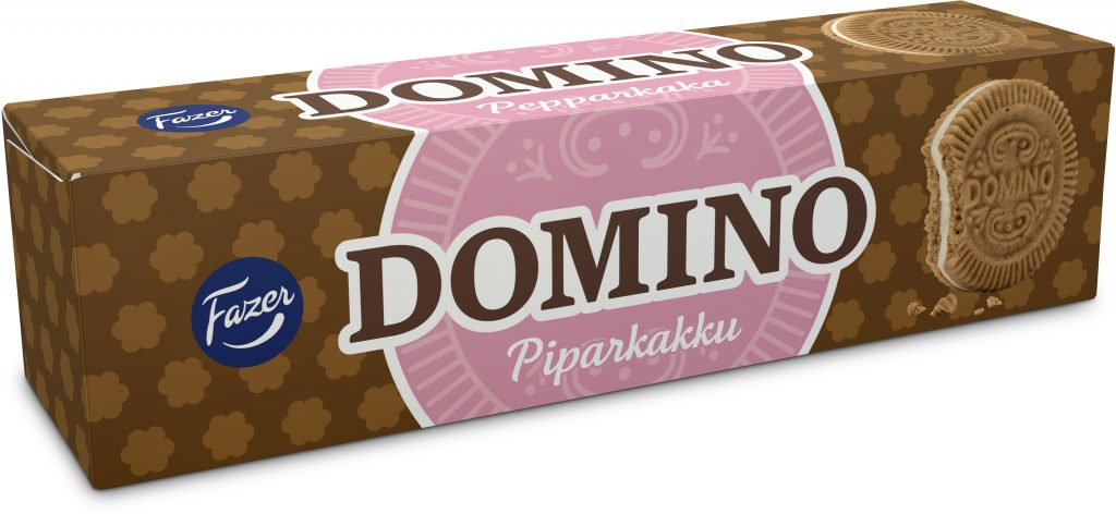 Fazer Domino Piparkakku Täytekeksi 175g