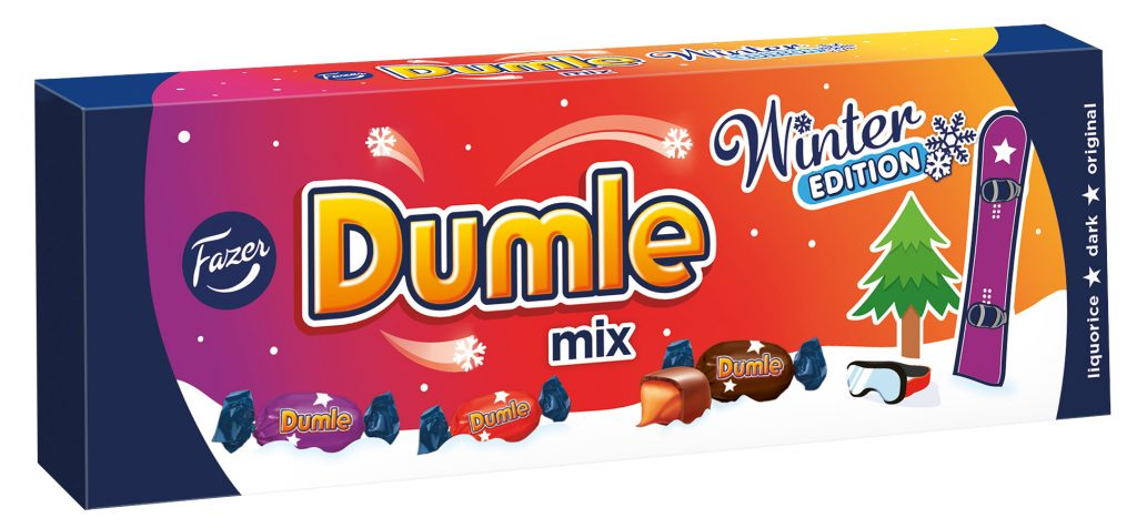 Fazer Dumle Mix 3 Suklaakonvehti Box 350g