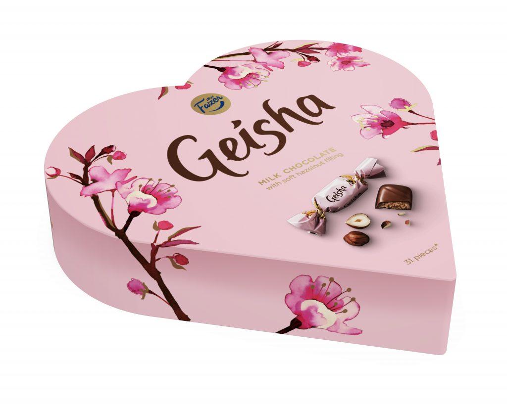 Fazer Geisha Sydän Suklaakonvehti 225g