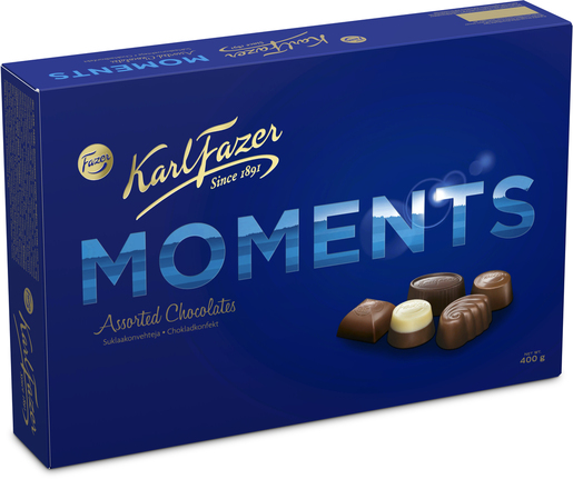 Fazer Karl Fazer Moments Suklaakonvehti 400g