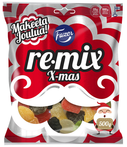 Fazer Remix Xmas Makeissekoitus 500g (M)