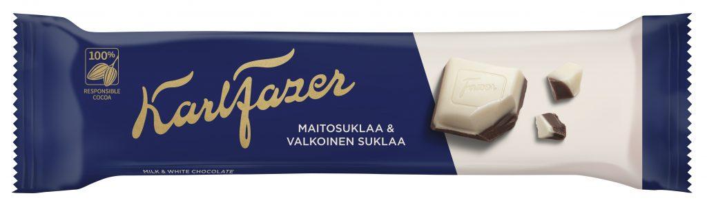 Fazer Sininen&Valkoinen Suklaapatukka 38g