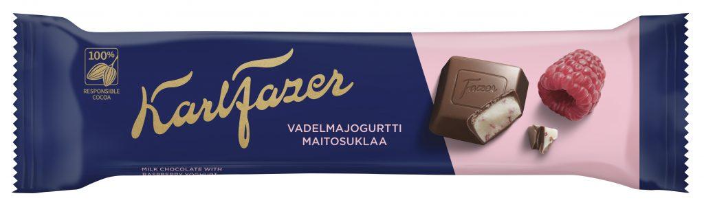 Fazer Vadelmajogurtti Täytesuklaapatukka 37g