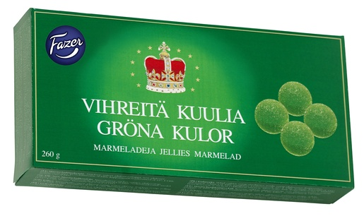 Fazer Vihreitä Kuulia Marmeladi 260g (G,V)