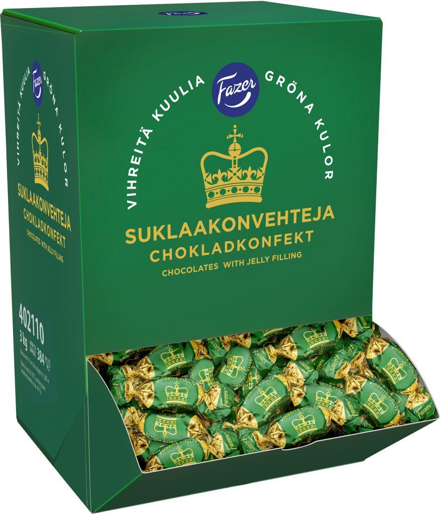 Fazer Vihreitä Kuulia Suklaakonvehti 3kg