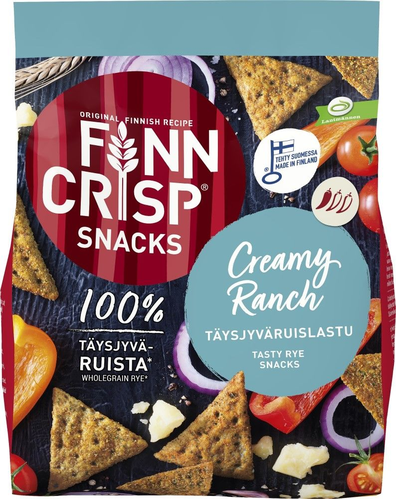 Finn Crisp Rye Snacks Creamy Ranch 150g