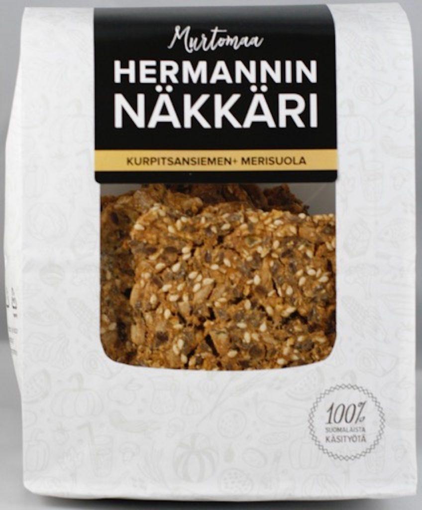 Hermannin Näkkäri Kurpitsansiemen-Merisuola 150Gg (L, M)