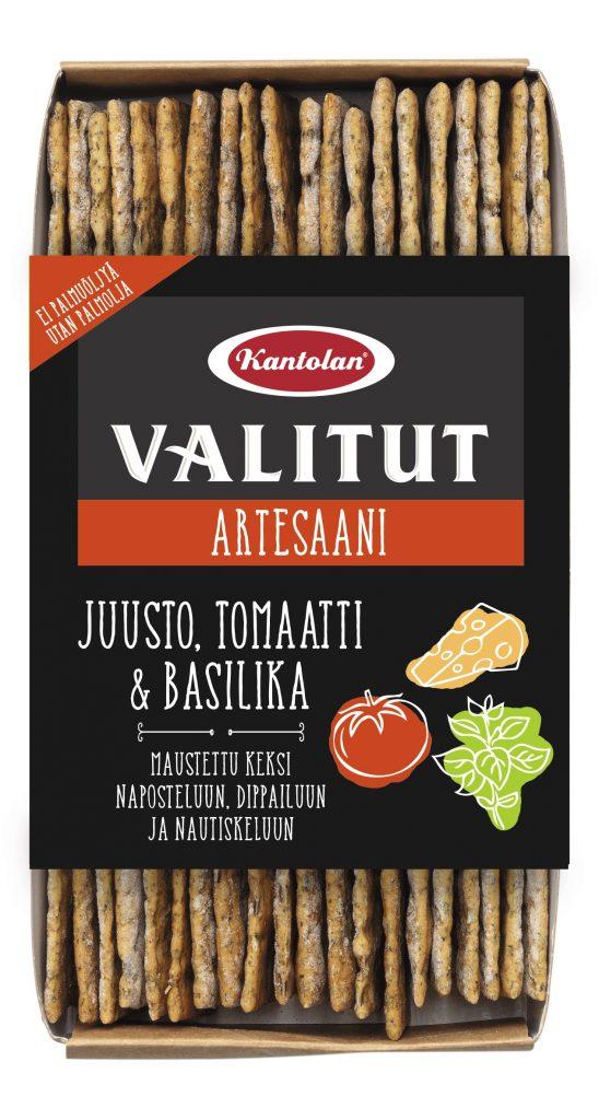 Kantolan Valitut Artesaani Juusto-Tomaattikeksi 130g