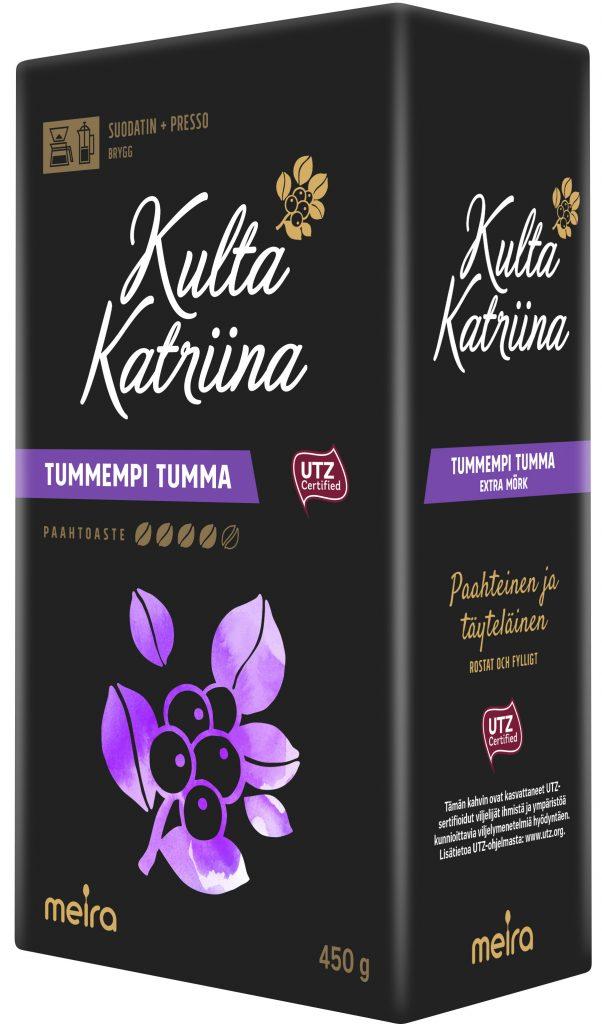 Kulta Katriina Suodatinjauhatus Kahvi Tummempi Tumma Utz 450g