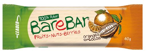 Leader Barebar Appelsiini-Raakakaakao Taatelipatukka 40g (L,G)