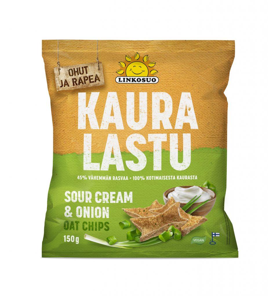Linkosuo Kauralastu Sourcream&Onion 150g