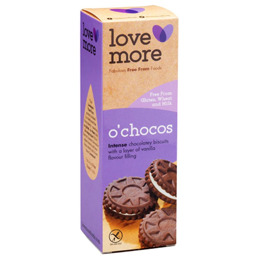Lovemore O'Chocos Suklaatäytekeksi Gluteeniton 125g (G)