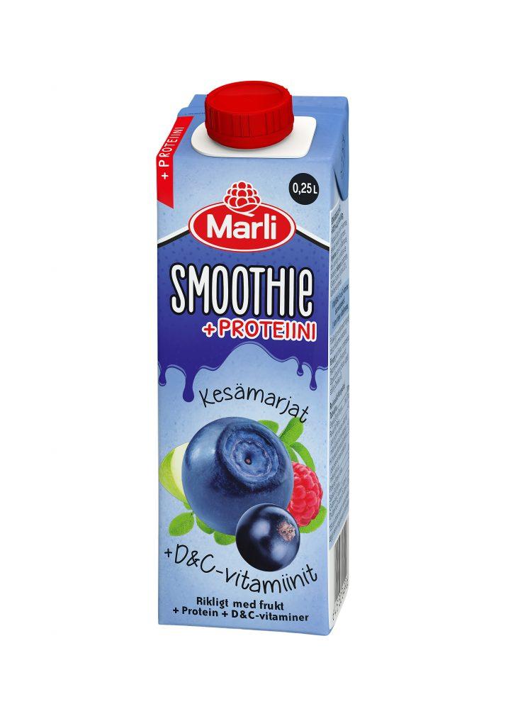 Marli Kesämarjat Smoothie D&C -Vitamiinit Ja Proteiini 2,5dl (G,L,M,V)