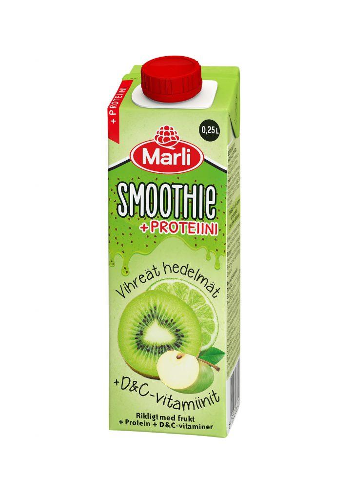 Marli Vihreät Hedelmät Smoothie D & C -Vitamiinit Ja Proteiini 2,5dl (G,L,M)