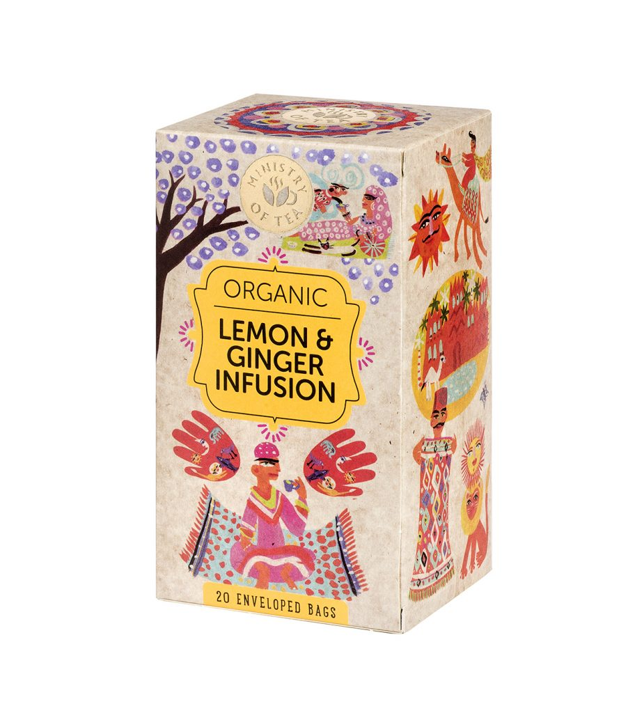 Ministry Of Tea Lemon & Ginger Infusion Tee Luomu 20pss