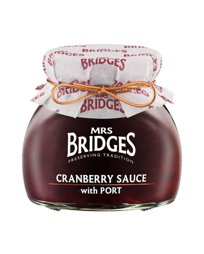 Mrs.Bridges Portviinillä Maustettu Karpalokastike 250g
