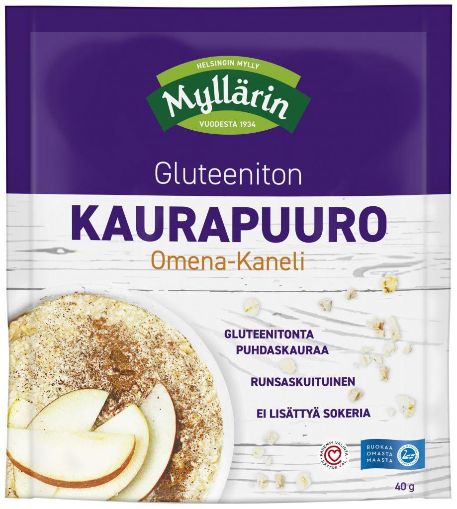 Myllärin Gluteeniton Kaurapuuro Omena-Kaneli 40g (L, M, G)