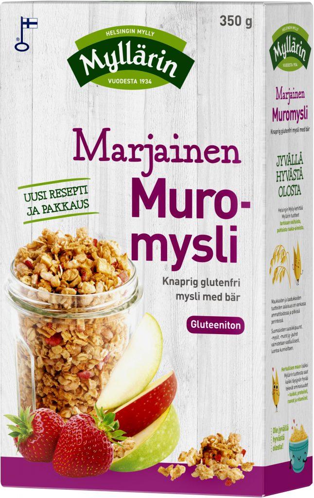 Myllärin Gluteeniton Marjainen Muromysli 350g (G,L,M)