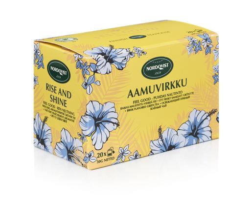 Nordqvist Aamuvirkku Feel Good Vihreä Tee 20pss