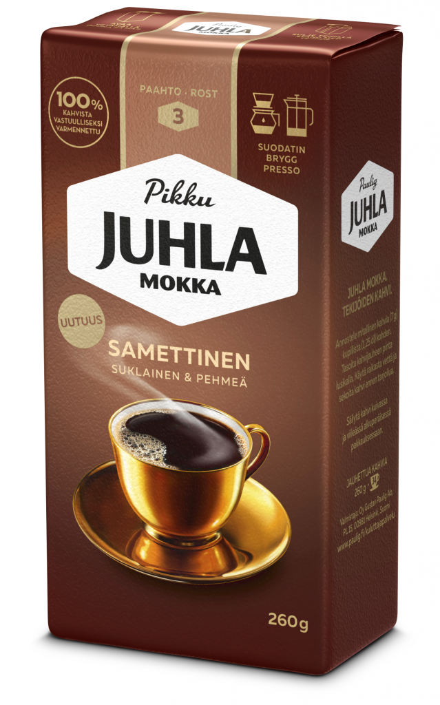 Paulig Juhla Mokka Samettinen Kahvi Suodatinjauhatus 260g