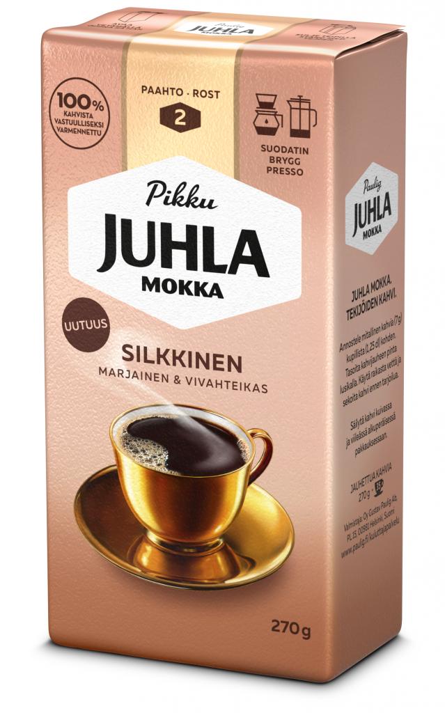 Paulig Juhla Mokka Silkkinen Kahvi Suodatinjauhatus 270g