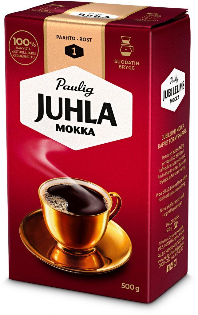 Paulig Juhla Mokka Suodatinjauhatus Kahvi 500g