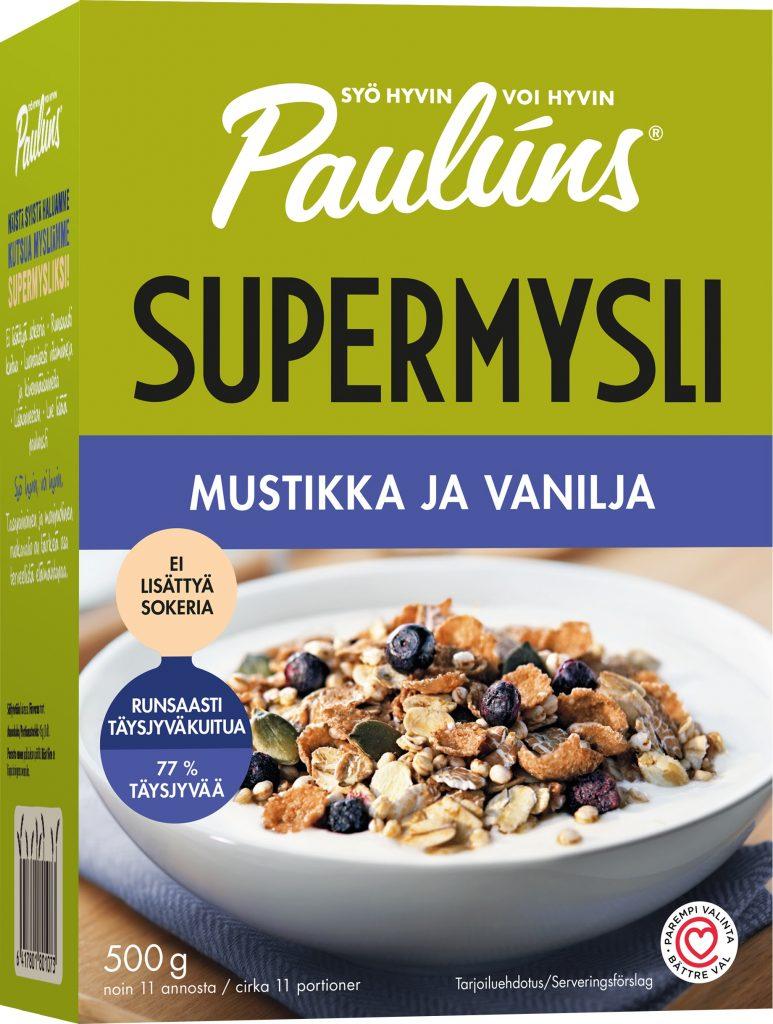Pauluns Mustikka Vanilja Mysli 500g (L,M)