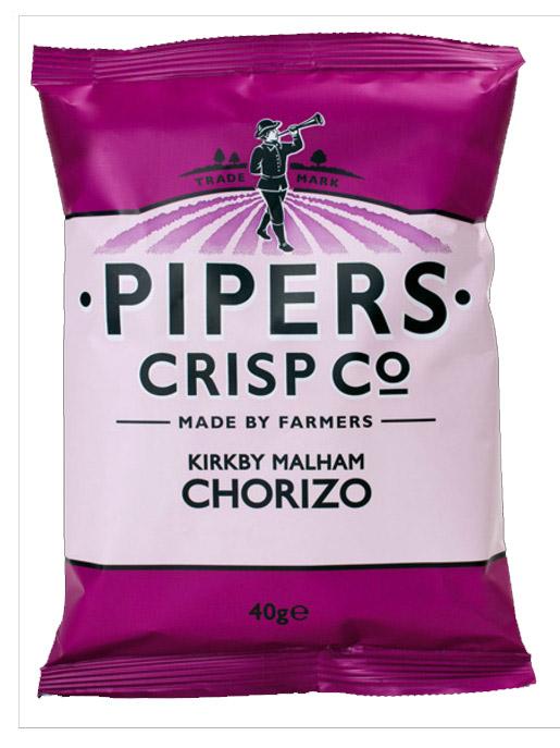 Pipers Crisp Kirkby Malham Chorizo Perunalastu 40g