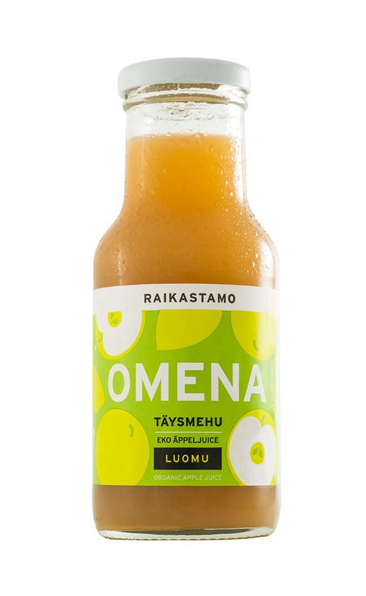 Raikastamo Omenatäysmehu Luomu 250ml (G,L,M,V)