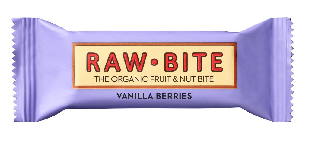 Rawbite Berries&Vanilla Patukka Luomu 50g (G,L,M,V)
