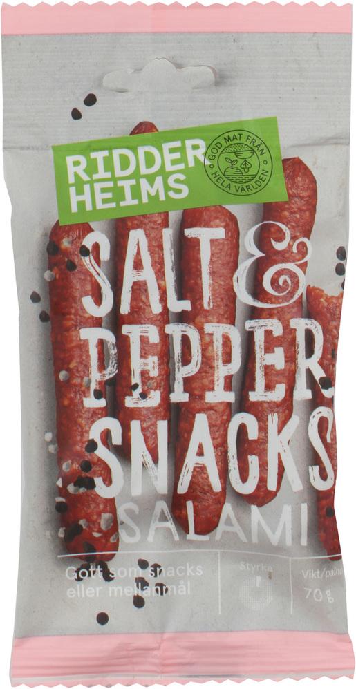 Ridderheims Snacks Salami Salt&Pepper 70g (G,L,M)