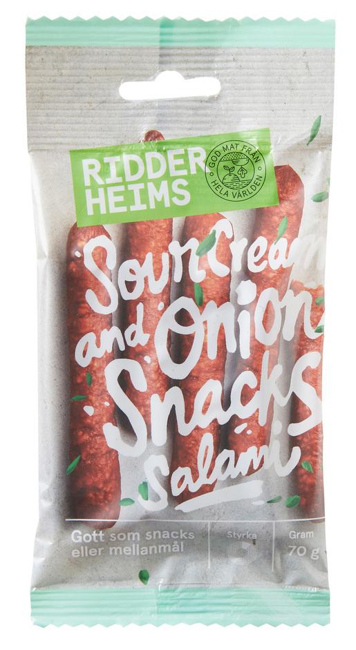Ridderheims Snacks Salami Sourcre&Onion 70g (G)