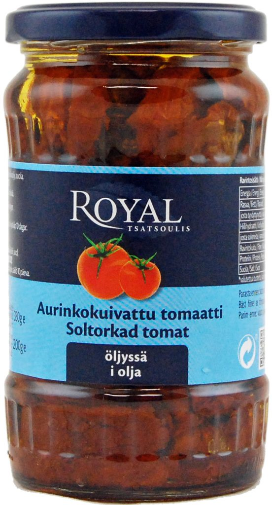 Royal Aurinkokuivattu Tomaatti Öljyssä 330g (G, L, M)