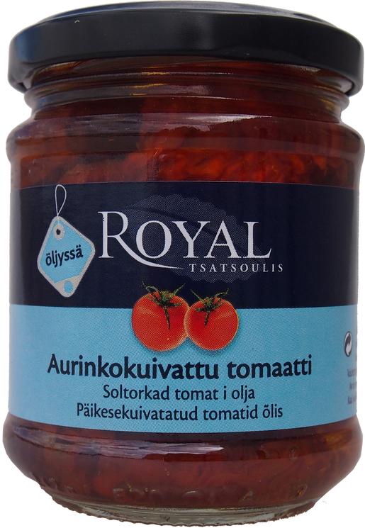 Royal Aurinkokuivattu tomaatti Auringonkukkaöljy 200g