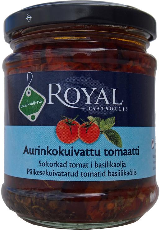 Royal Aurinkokuivattu tomaatti Basilikaöljy 200g
