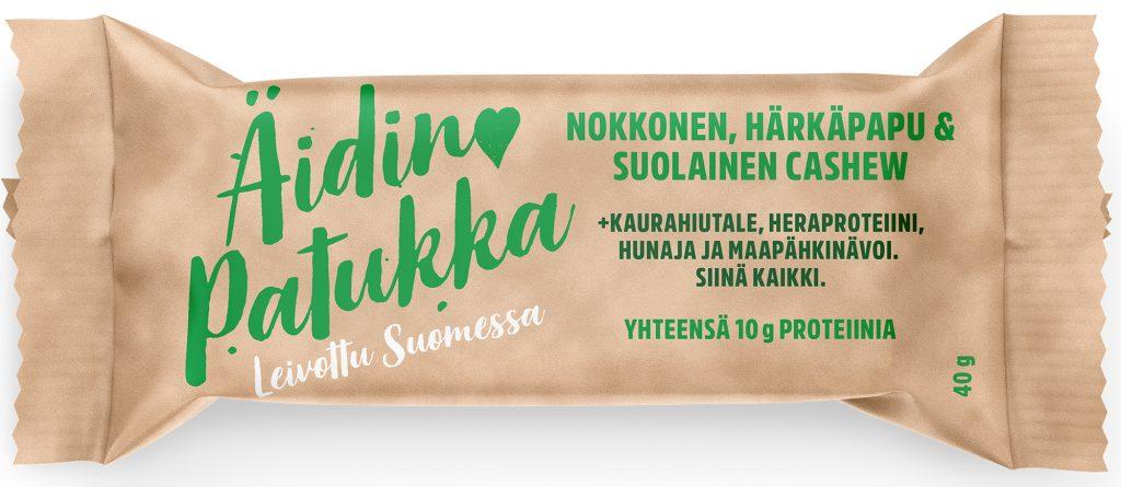 Sportlife Foods Äidin Patukka Nokkonen-Härkäpapu-Suolainen Cashew Välipalapatukka 40g