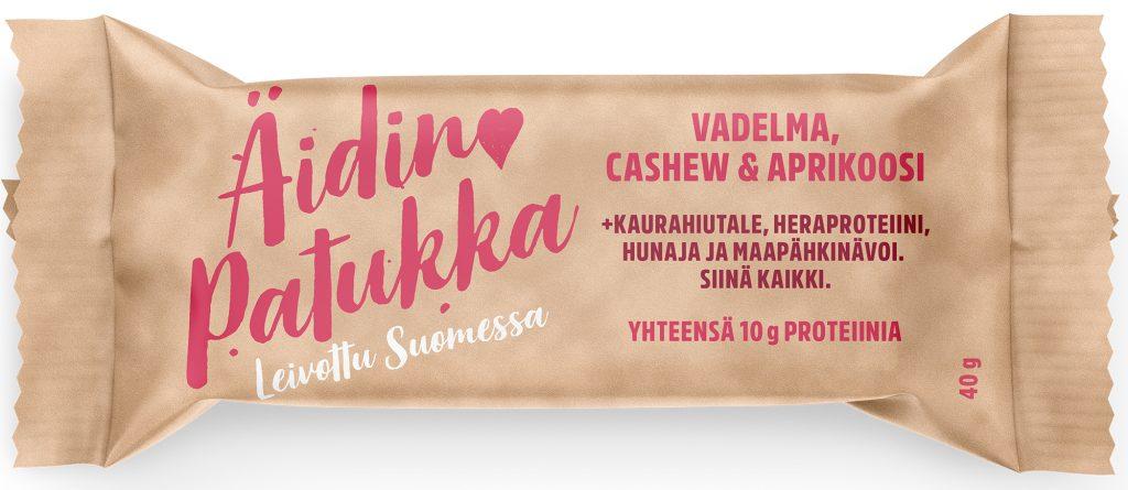 Sportlife Foods Äidin Patukka Vadelma-Cashewpähkinä-Aprikoosi Välipalapatukka 40g (G,VL)