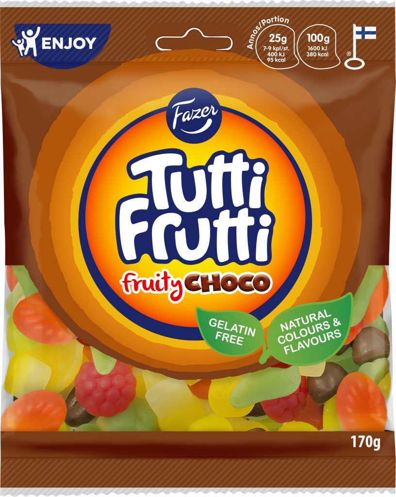 Tutti Frutti Fruity Choco Makeispussi 170g