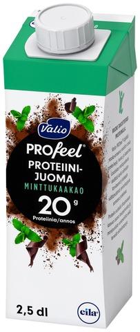 Valio Profeel Proteiinijuoma Minttukaakao UHT 2,5dl (L)