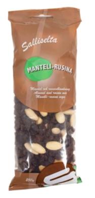 Mauste Sallinen Manteli-Rusinasekoitus 250g